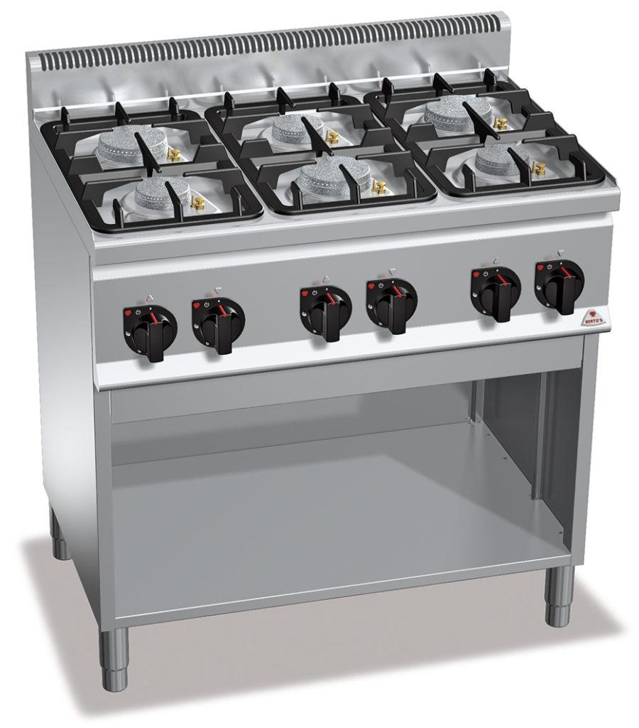 Kuchnia gazowa 6 palnikowa bez piekarnika